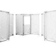 Fridge Tent leicht im Aufbau Zeltwände