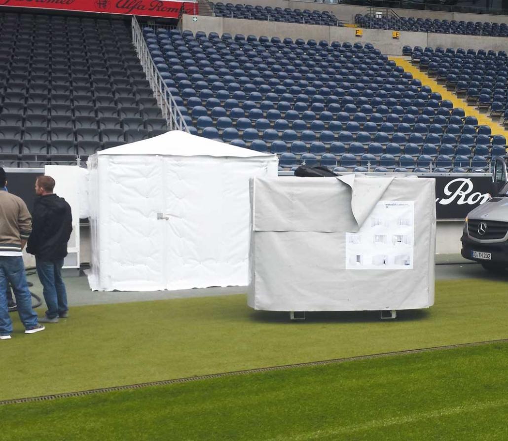 Fridge Tent Külhzelt im Stadion